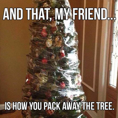 Best way to store a Christmas tree