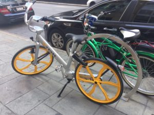 Image of VBikes in Downtown Dallas