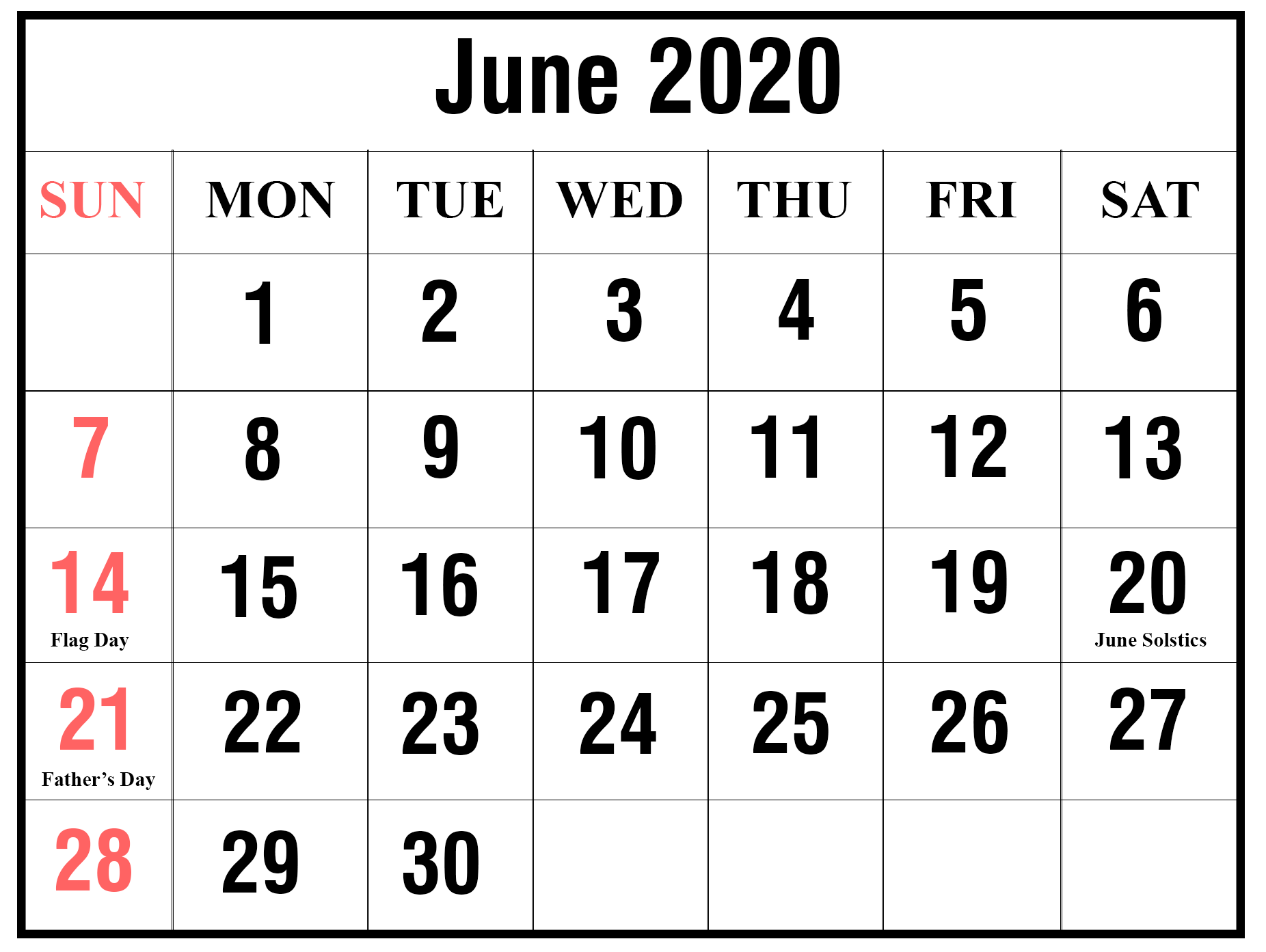 What Happened in June, 2020?